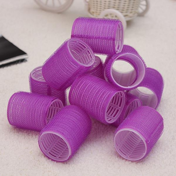 12 Pcs Nylon Magic Hair Cling Curler Rollers  Hair Curler Tools