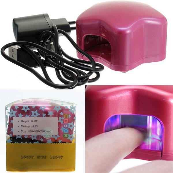 0.5W Mini Pentagram USB Interface & Battery LED UV Nail Lamp