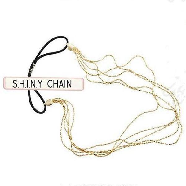 5 Golden Metal Chain Hair Band Thin Headband Female Hair Accessory
