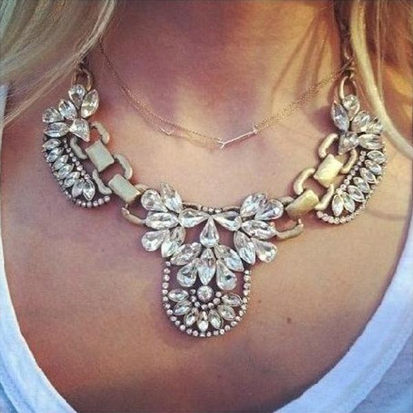 Statement Crystal Collar Necklace