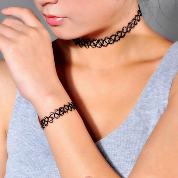 Tattoo Necklace and Bangle Set