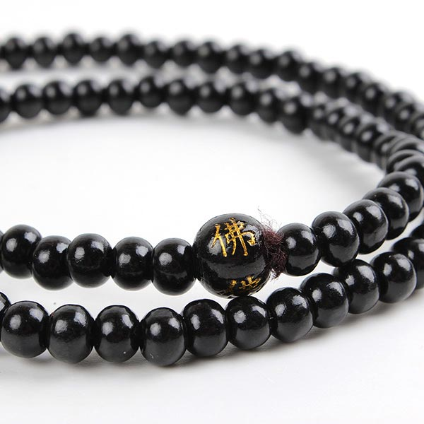 108 Black Bead Necklace