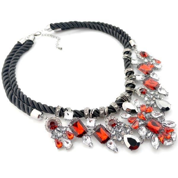 Red Crystal Statement Necklace