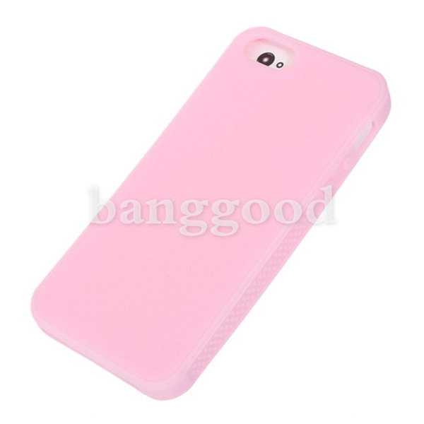 Succinct Silicone Candy Color Protective Case Cover For iPhone 5 5G
