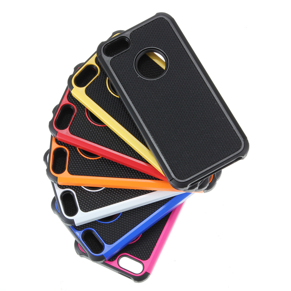 Rubber TPU Shock Proof Dual Layer Cover Case For iPhone 5 5G 5TH