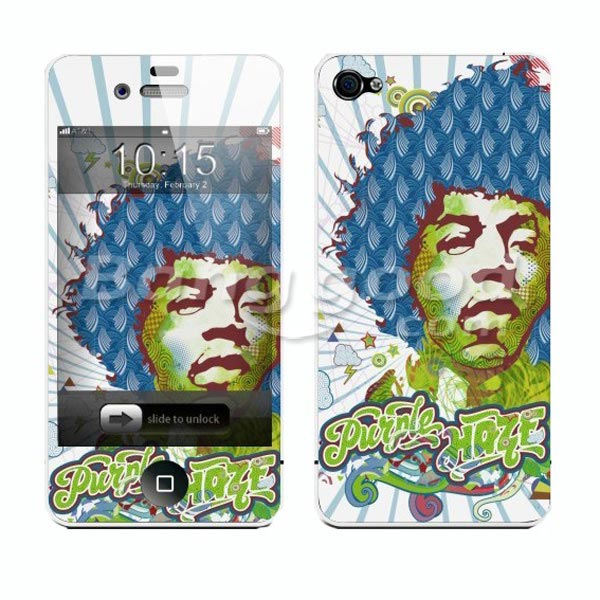 Fashion Man Head Portrait Back Front Screen Protector For iPhone 4 4S