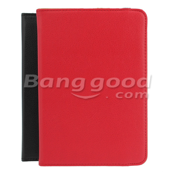 Leather Plastic Case With Stand 360 Degrees Rotation For iPad Mini