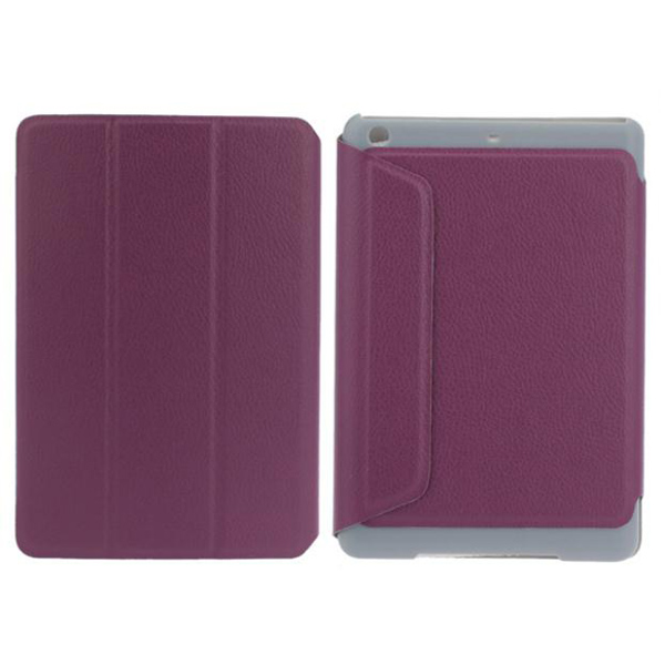 Three Fold Design Folio Stand Leather Case Cover Pouch For iPad Mini