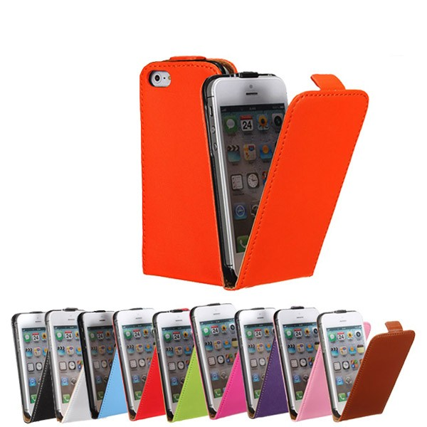 Magnetic PU Leather Protective Vertical Flip Case Cover For iPhone 5 - EachineCases &amp; Skins<br>Description: Features: Magnetic closure Easily applied,removed Light weight and portable Access to ports and controls Protection from scratches,abrasion,and shock Material:leather Color:orange,purple,blue,green,red,peach red,brown,pink,white,black Compatible with: For Apple iPhone 5 Packing Includes: 1 x Leather Case Note:Accessory Only. Cellphone not included.<br>