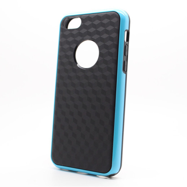 Stereo Veins Carbon Fiber Double Color TPU Case For iPhone 5C