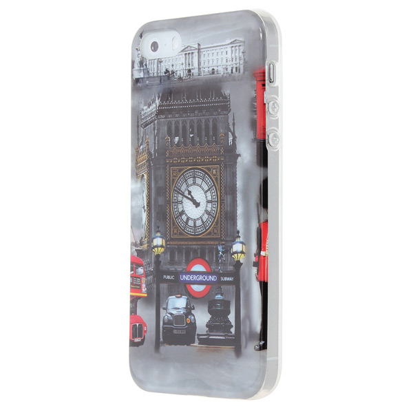 London Big Clock Pattern Hard Back Case Cover For iPhone 5 5S