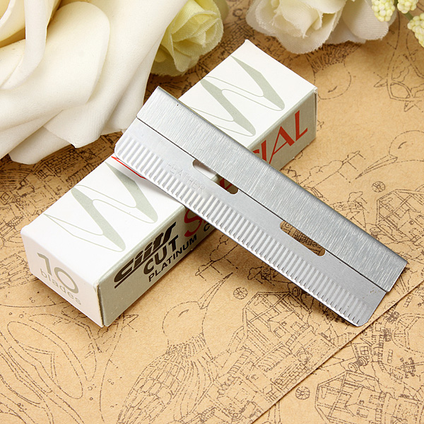 Stainless Steel Hair Shaving Razor Blades Knife Rest Shaver Frame Set