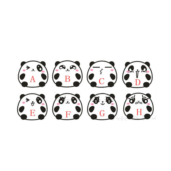 Cute Cartoon Panda Switch Sticker Socket Paster Wall Poster