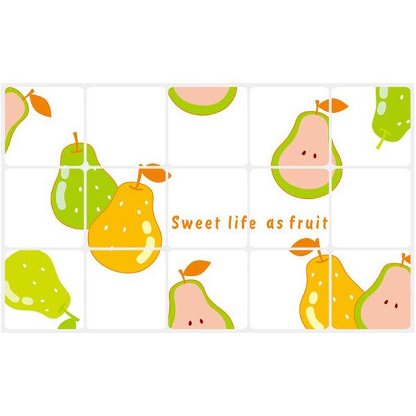 Pears High Temperature Resistant Transparent Aluminum Foil Sticker
