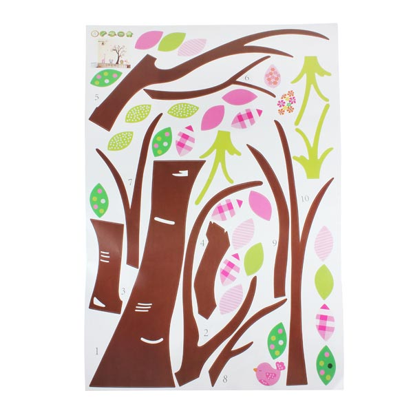 Monkey Lion Tree PVC Wall Sticker Wallpaper ZY216