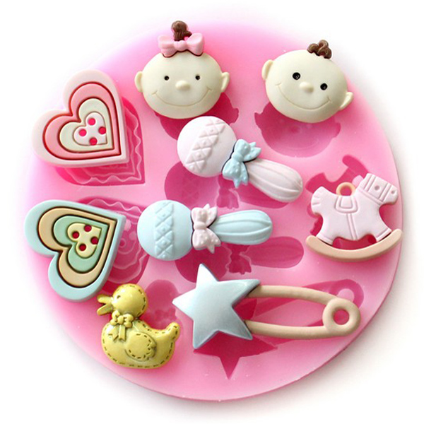 F0489 Silicone Baby Heart Duck Cake Mould Fondant Chocolate Soap Mould (Eachine1) Ann Arbor Продам Куплю