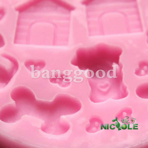 Dog house cake mould