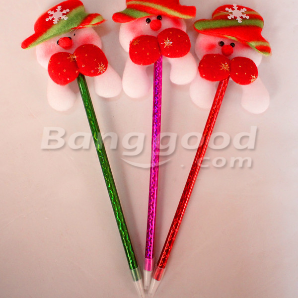 Lovely Christmas Ballpoint Pen Santa Claus Snowman Elk Bear