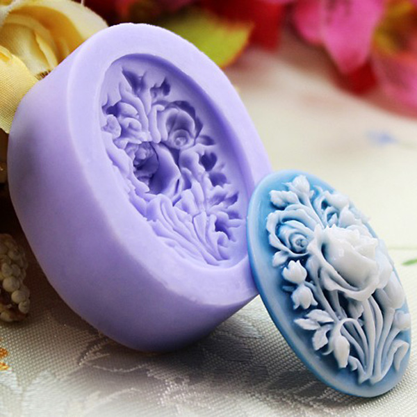 Silicone rose flower mould