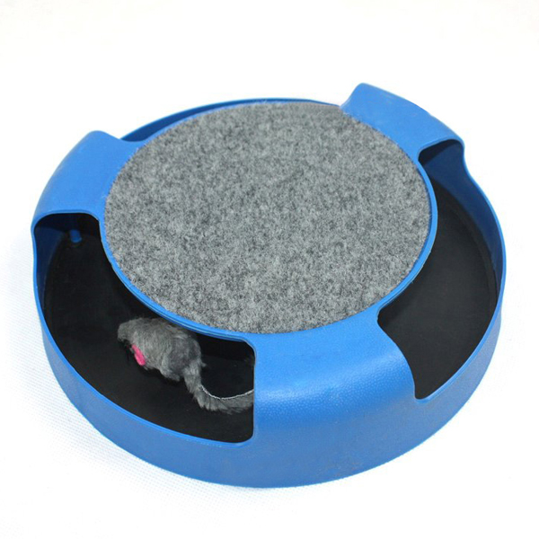Circle Funny Bell Ball Trainning Turntable Cat Toy With Mouse