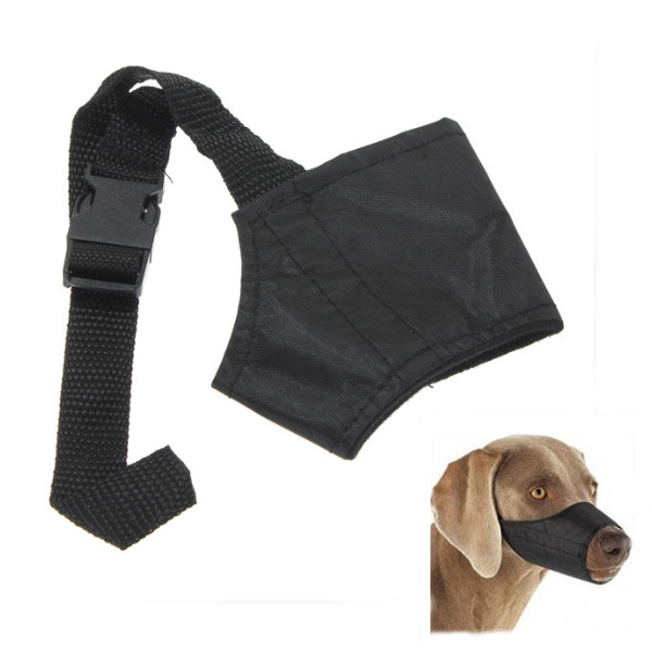 Buy Adjustable Safety Pet Dog Mouth Set Nylon Muzzle Size L