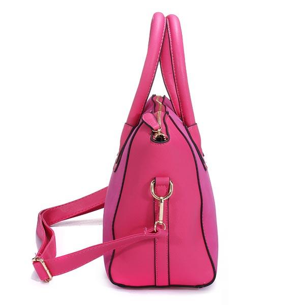 Fashion Nubuck Leather Smiling Face Women Handbag Shoulder Bag