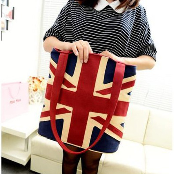 New Fashion Canvas England Flag Women Shoulder Bag Handbag