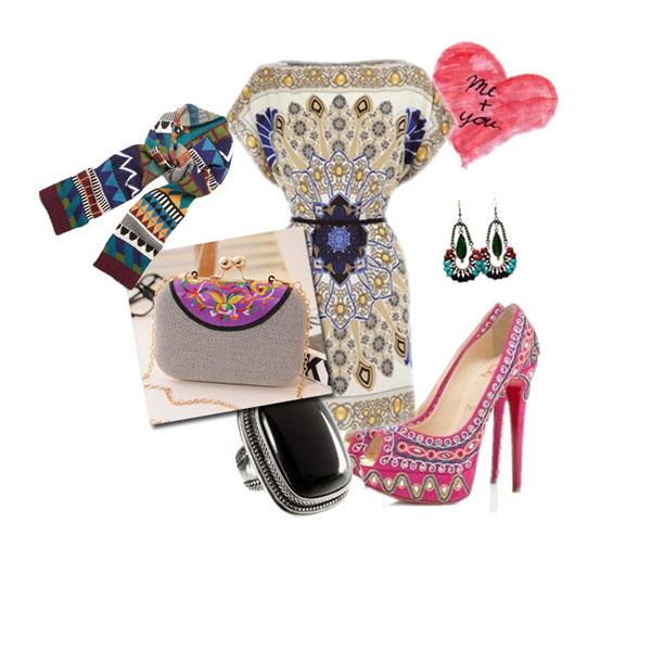Lady Retro Folk Style Chain Embroidery Clutch Bag Evening Handbag