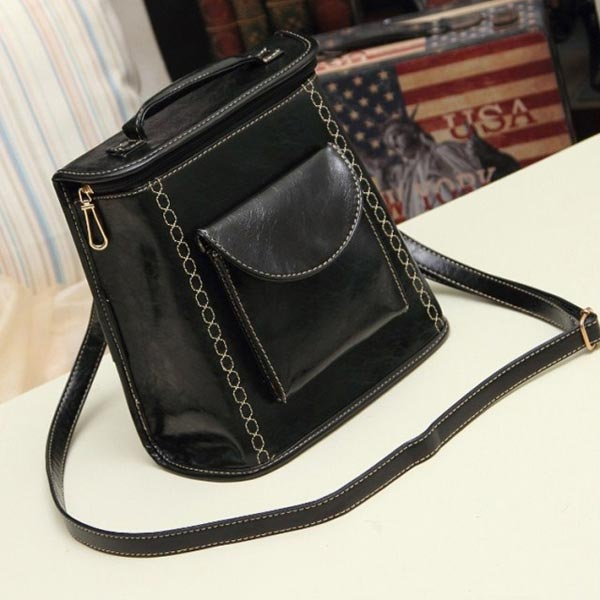 New European Vintage Preppy Style Women Backpack Shoulder Bag