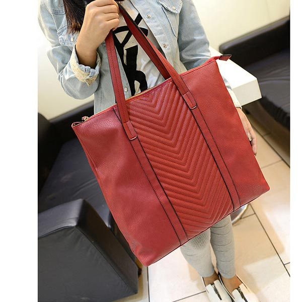 New Europe Simple Style Retro Fashion Women PU Handbag Shoulder Bag