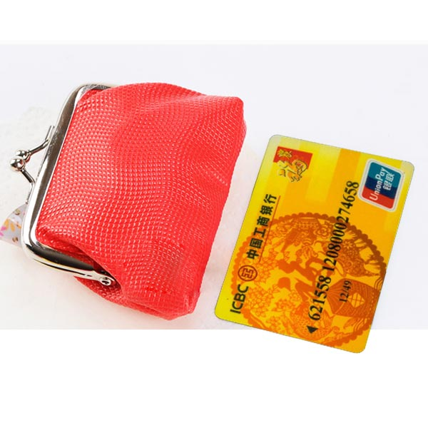 Sweet Candy Colors Girls Women Hasp Coins Bag Small Purse Wallet