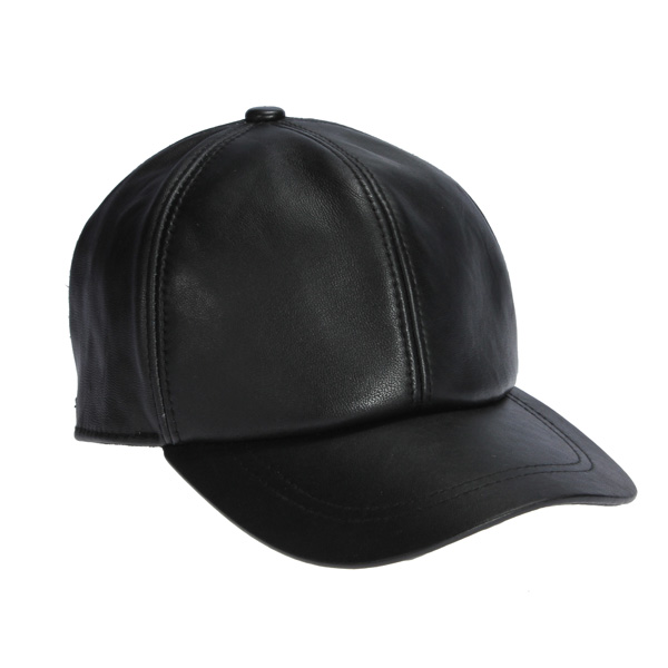 Men Genuine Leather Baseball Caps Casual Adjustable Black Warm Hats leuchtturm genuine black leather notebook master a4 plain blank