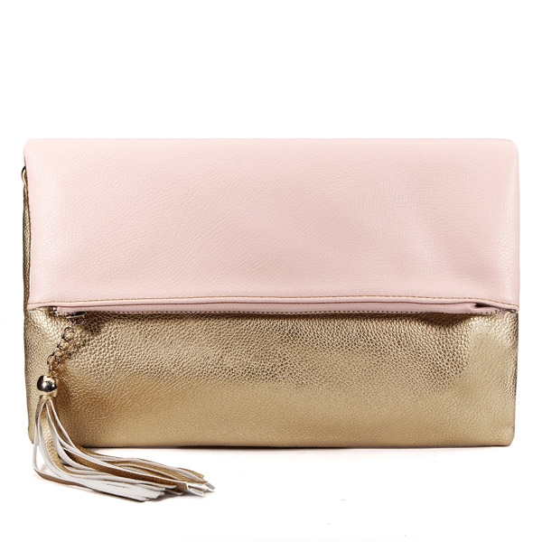 Fashion Golden Tassel Ladies Clutch Bag Shoulder Cross Body Bag