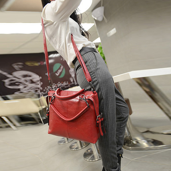 Fashion Women Handbag Pu Leather Simple Shoulder Bag Crossbody Bag