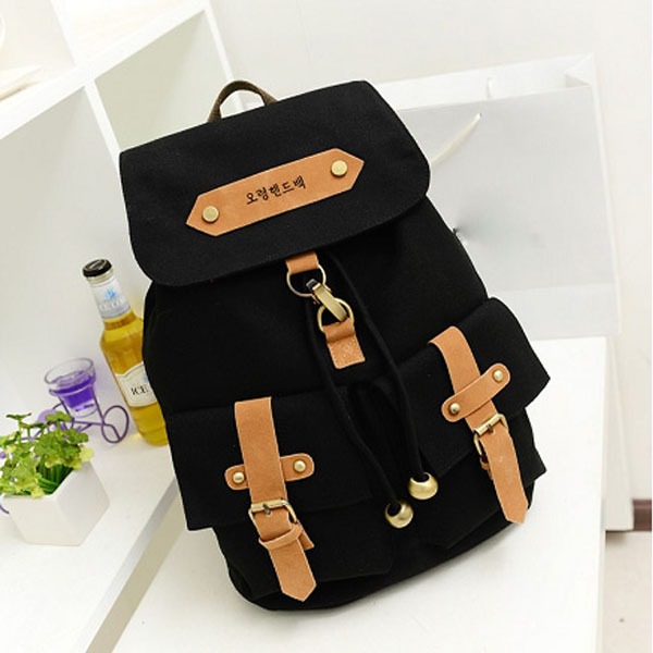 Korean Style Fashion Canvas Girls Backpack Rucksack Students Schoolbag