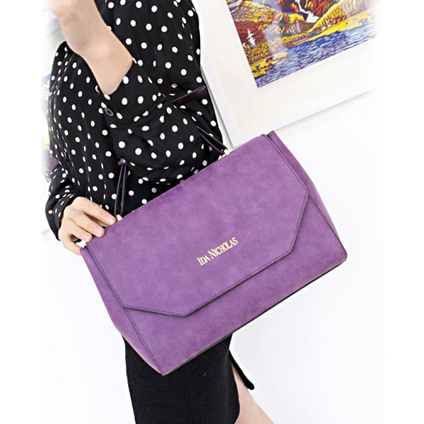Мода Retro Matte Handbag Stereotypes Shoulder Bag Женщины Handbag
