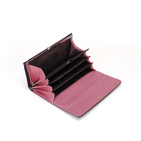 Korean Fashion Waxy PU Leather Retro Women Wallet Clutch Long Purse