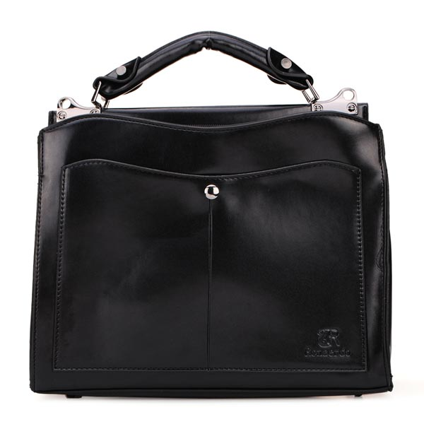 Vintage Leather Pure Color Female Handbag Shoulder Bag