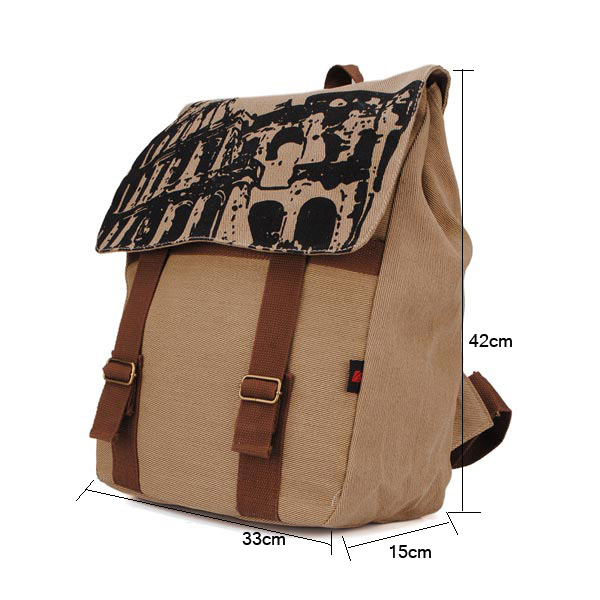 Fashion Unisex Girls/Boys Canvas Backpack Rucksack Students Schoolbag