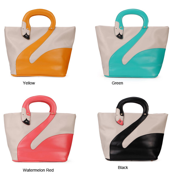 Fashion Cute Animal Swan Pattern Women Handbag Shoulder Bag
