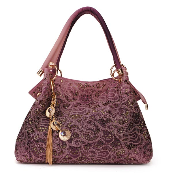 Fashion Carved Hollow Out Auspicious Clouds Pattern Women Handbags