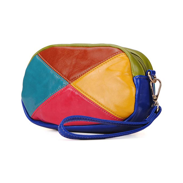 Fashion Color Blocks Patchwork Women Clucth Bag Cross Body Bag