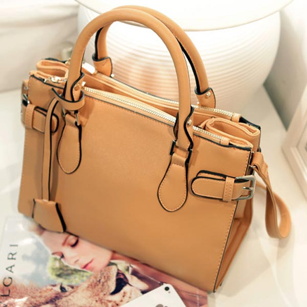 Fashion Shoulder Bag Belt Decoration Women Handbag Messenger Crossbody Bag