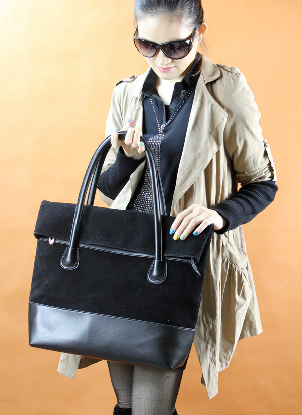 Korean Version Large Capacity Bag Female Flannel PU Bag Shoulder Bag Сумочка
