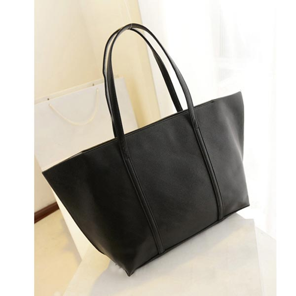 New Korean Fashion Handbag Women Casual Shoulder Bag Black Handbag Big Bag