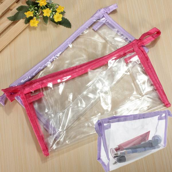Make Up Cosmetics Zipper Transparent Purse Plastic Washing Bag от Banggood INT