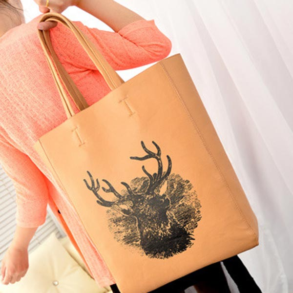 Women Handbag Fashion Deer Package Large Shoulder Bag Women Bucket Bag