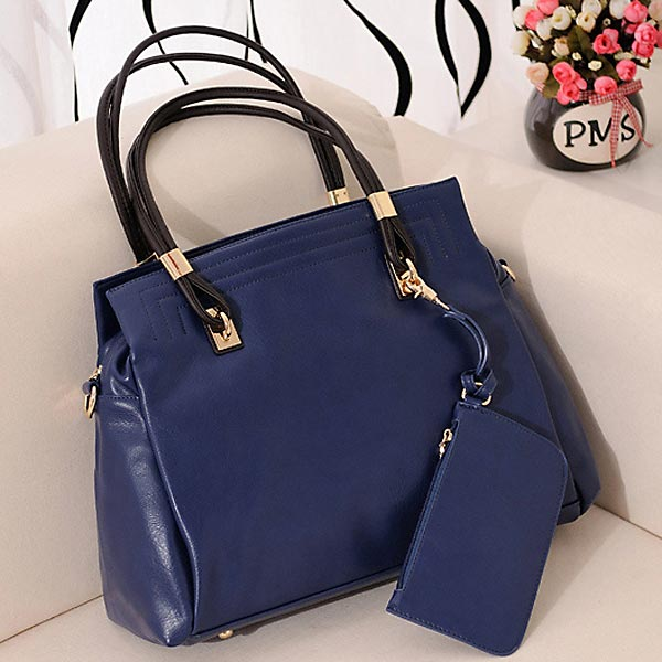 High Quality PU Leather Handbag European Style Retro Women Shoulder Bag