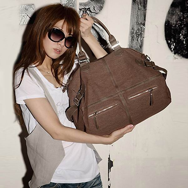 New Korean Fashion Casual Canvas Bag Large Shoulder Messenger Bag
