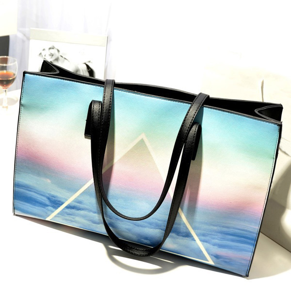 Harajuku Style Printing Casual Shoulder Bag Women Leisure Handbag